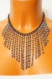 """Небольшое нагрудное ожерелье ручной работы """"Принцесса Черный бриллиант"""". Цена 1800 р."""