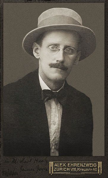 James Joyce, photo taken by Alex Ehrenzweig in 1915