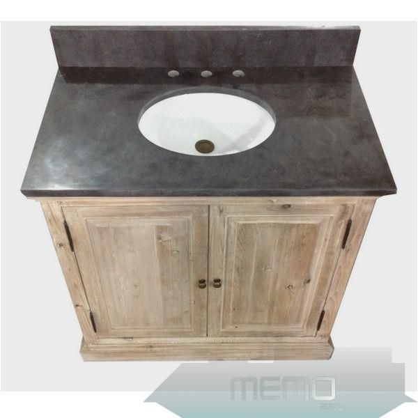 Aug 1 2016 36 Inch Marble Top Single Sink Rustic Bathroom Vanity With Matching Wall Mirror And Linen Tower Farmhousebathroompaintcolors In 2020