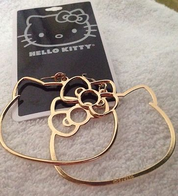 You know I gots these! @Suzy Sissons Sissons Sissons Mitchell Fellow Skillen...Hello Kitty hoop earrings  :)