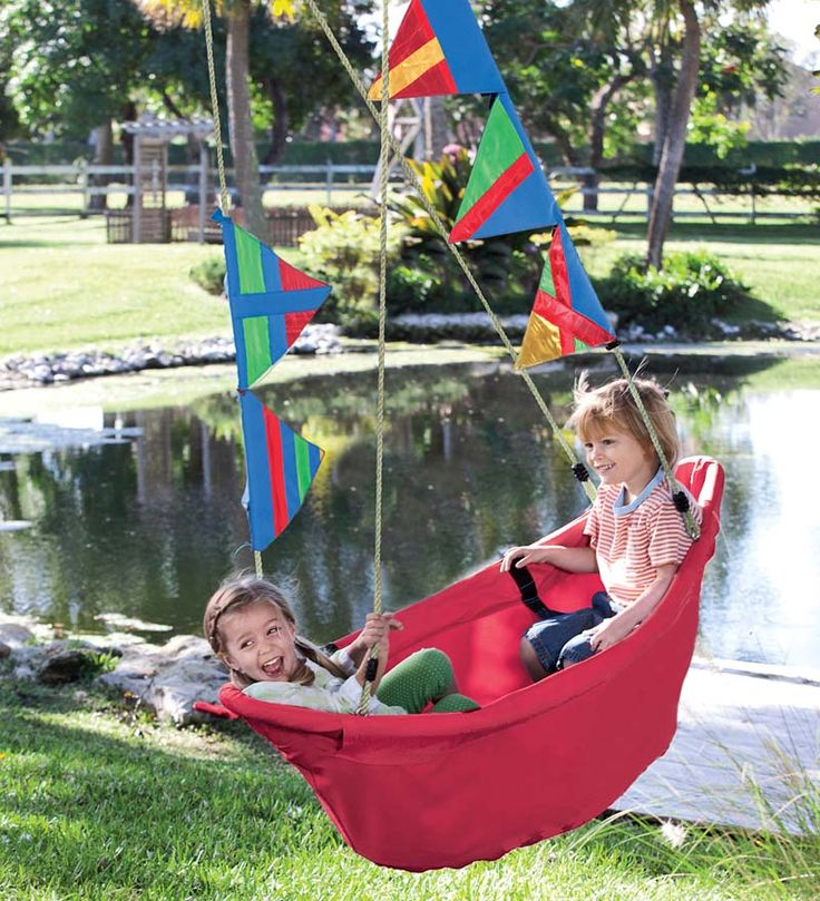 So adorable.. this unique swing....I think my kiddies are too big for it or i'd have to buy one!!! Sunfish Sailboat Swing...magiccabin.com