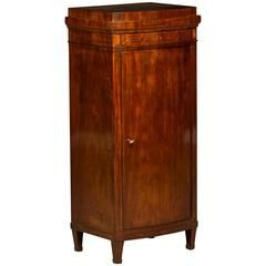 Elegant Early 19th Century Empire Pedestal Cabinet with Inlays