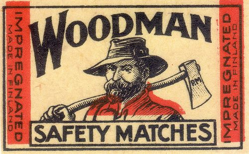 Woodman Safety Matches Cover