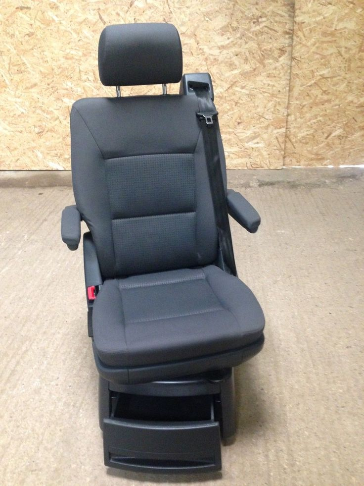 VW T5 Caravelle Swivel Seat,Captain Seat,Middle Row, In Anthracite Duo | eBay