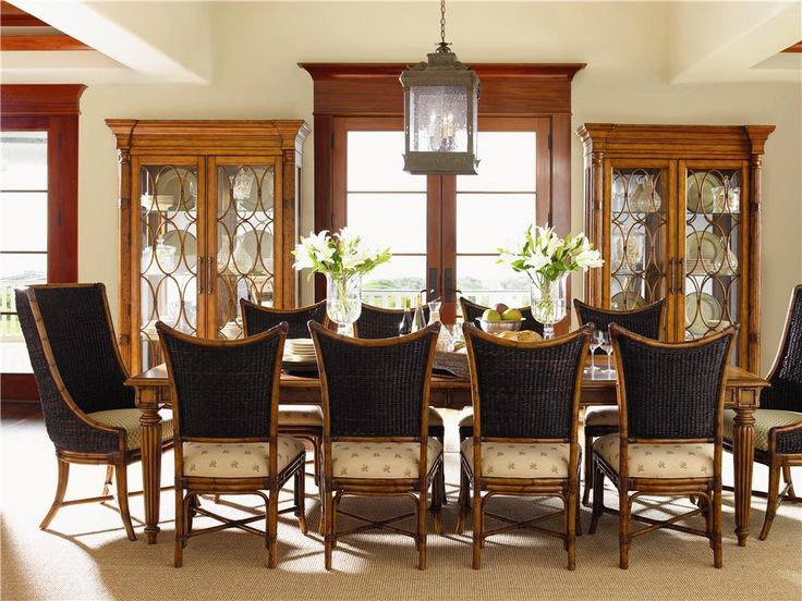 table with cruz bay host and mangrove chairs set by tommy bahama home