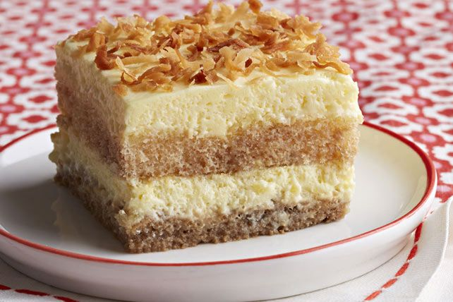 Our Creamy Coconut Tiramisu has everything you love about classic tiramisu, with a tropical twist.  Made with coconut milk and flaked coconut, this tiramisu won't disappoint.