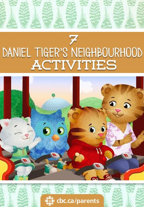 Little fans of Daniel Tiger's Neighbourhood will love these crafts and activities. Make a portable play set, print mix-and-match cards, try a scavenger hunt in your own neighbourhood and more.
