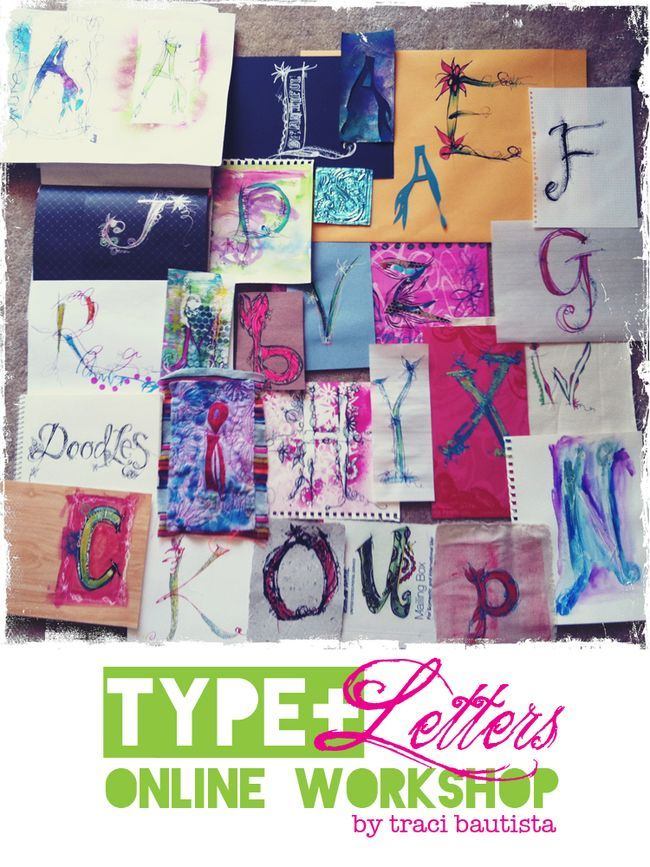 TYPE+letters online workshop by traci bautista