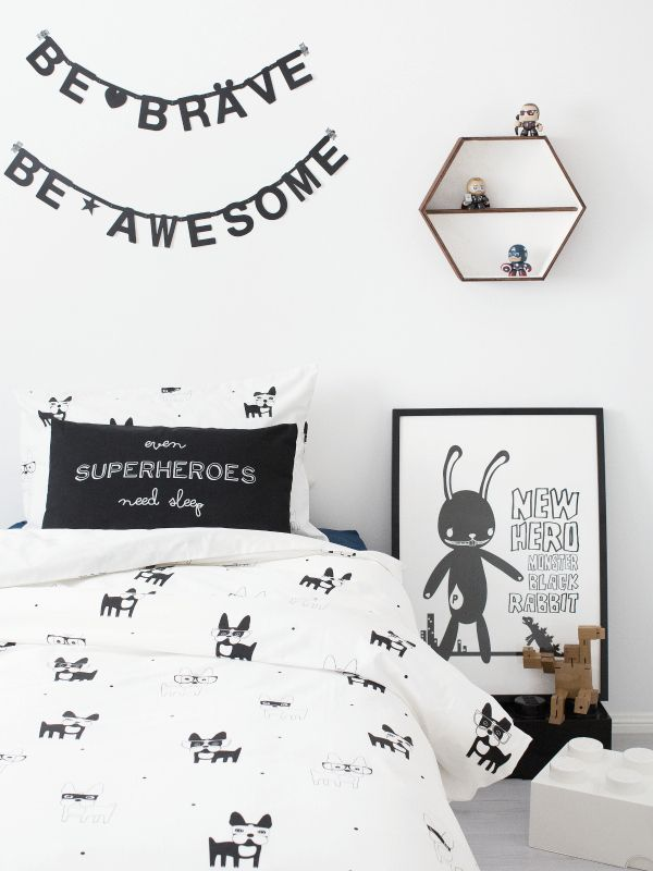 Zero to Hero duvet set from Frankie and Frenchie online store