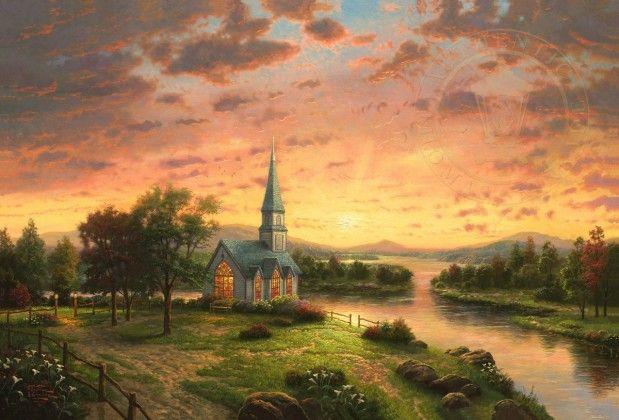 Sunrise Chapel   The Thomas Kinkade Company