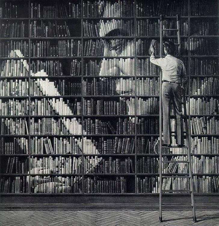 Bookshelf art.