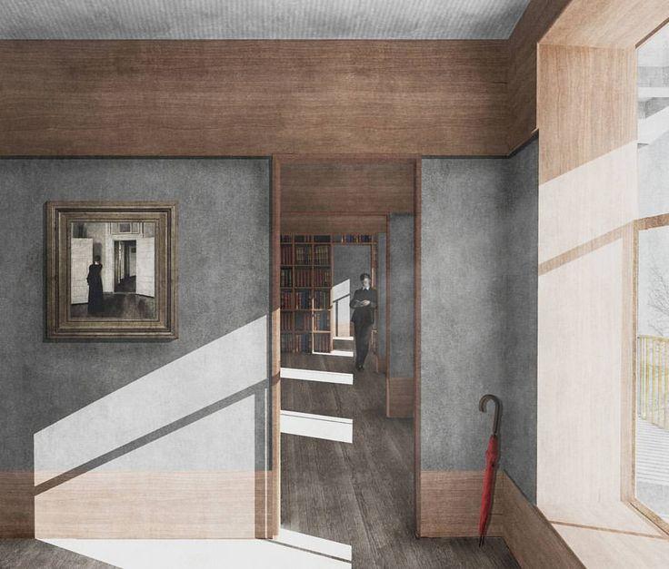 "6,774 curtidas, 7 comentários - [ ARCH GRAP ] (@arch_grap) no Instagram: ""Fragmenting Nostalgia, an interior image for an economy housing scheme in Denmark by Matthew…"""