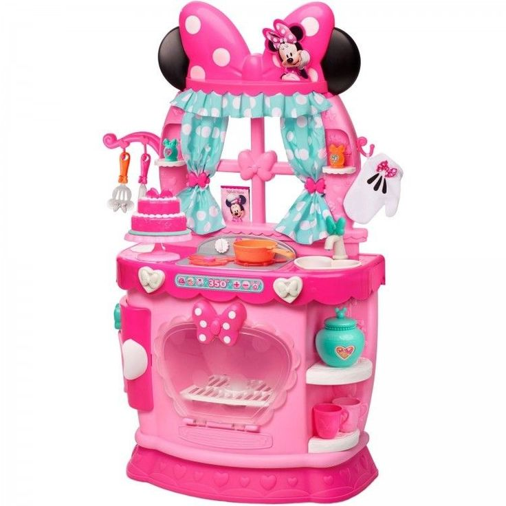 Toy Kitchen Set Kids Play Pretend Food Cooking Sink Oven Girls Gift Minnie Mouse #DisneyMinnieMouse