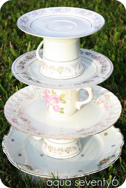 The Vintage Dish Dessert Tower