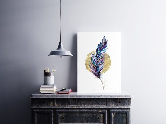 Colorful feather for modern homes https://www.etsy.com/uk/listing/468190837/bohemian-colorful-feather-fine-art