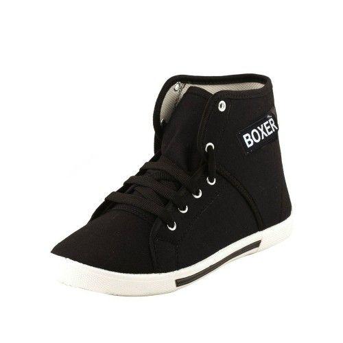 Earton Men's Black Canvas Sneakers