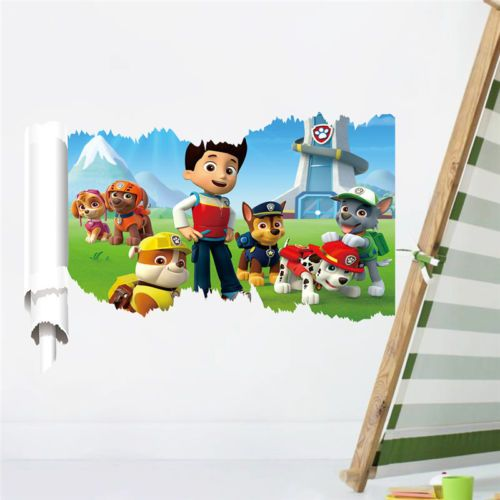Paw-patrol-3D-Breaking-Through-Wall-Decals-Stickers