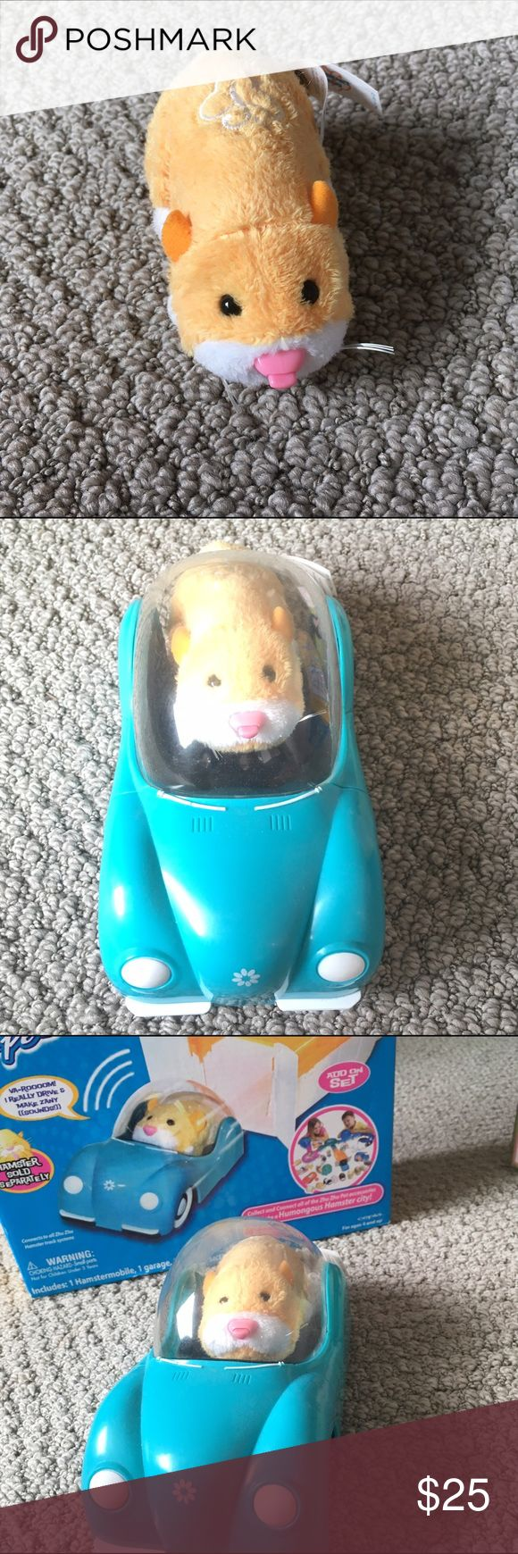 Nugget the hamster zhu zhu pet A bundle of nugget the zhu zhu hamster and ths blue hamster mobile. When you press the button on the top of nugget he moves across the floor. He also makes many zany sounds. A great gift for the holiday season ☃️❄️ Other