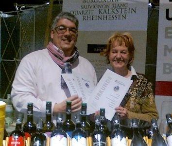 Weingut Evharis Urkundenübergabe griechischer Weinpreis 2011