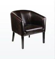 I wish I had a spot for this chair. I guess I could move the bench from the hallway and put it there!: Garages Loft, Loft Kitchen, Games Room, Living Room, Leather Tubs, Club Chairs, Chocolates Leather, Music Room, Tubs Chairs