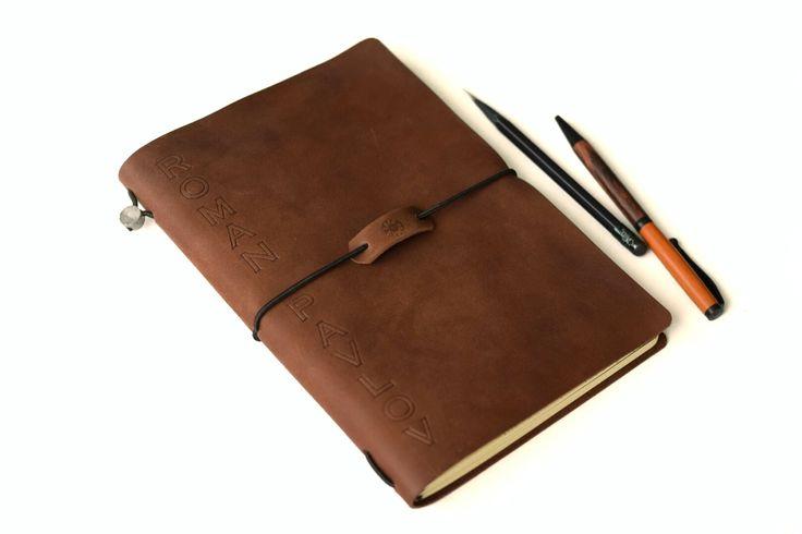 Кожаный блокнот со сменными блоками Traveler`s Notebook А5