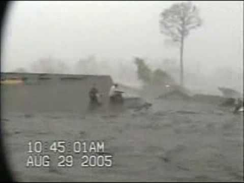 AMAZING RAW VIDEO Hurricane Katrina 2005 flooding in St. Bernard Parish Louisiana DURING Katrina. Many think the levees failed AFTER Katrina, but this video shows differently. In just over two hours, unbelievable inundation of the flood waters. They were able to retrieve life jackets and swim back to the safety of the two-story house.