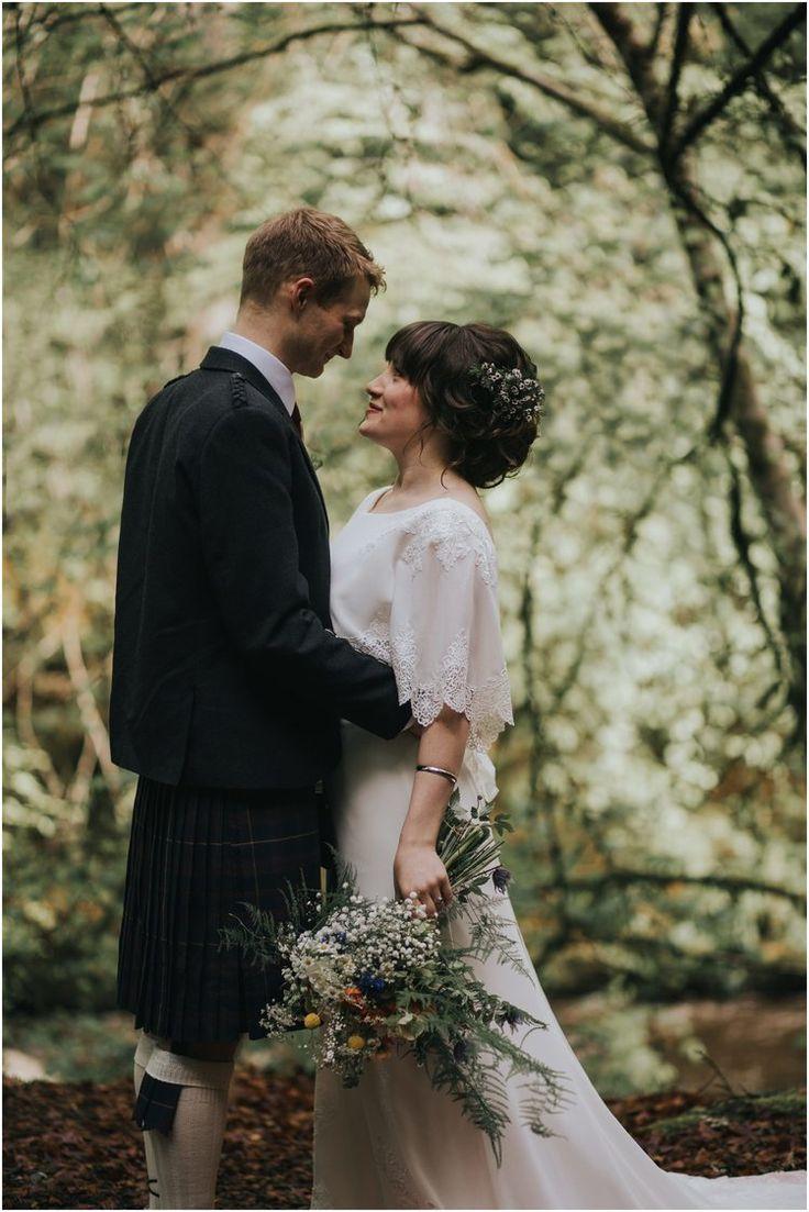 #wedding #bride #groom #kilt