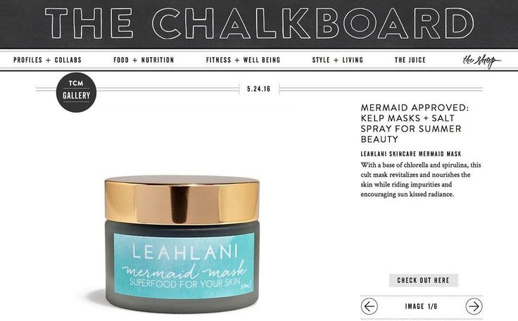 Mermaid Approved skincare over at The Chalkboard Magazine!