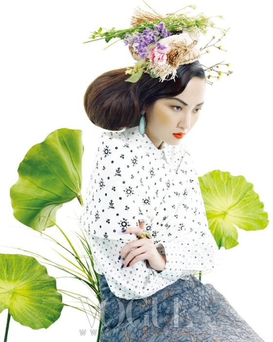 "Vogue Korea ""Spring Breeze"" - interesting top from Miu Miu Spring 2012 Collection"