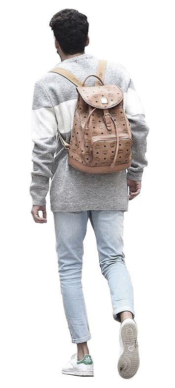school bag backpack man model guy cutout rendering photoshop png transparent people