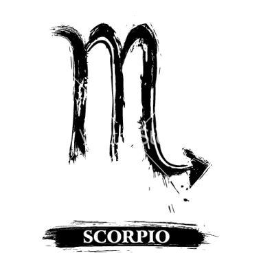 Scorpio symbol vector
