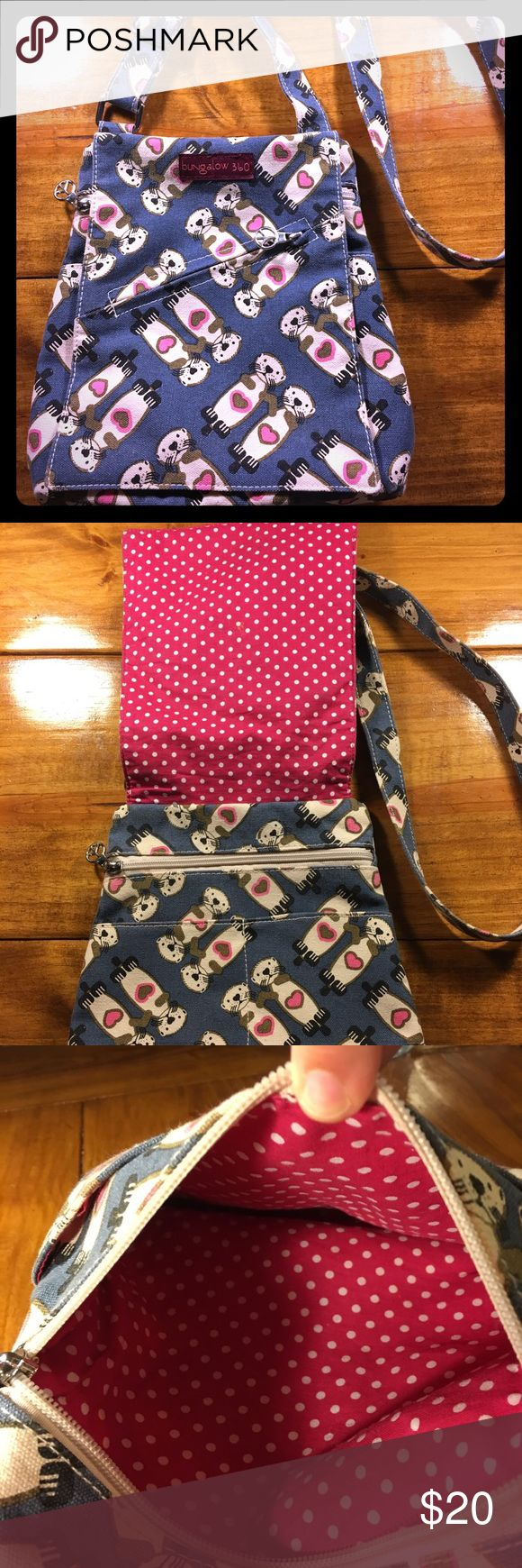Bungalow 360 Otter Love Crossbody I'm in love with otters and you will too! Bungalow 360 preowned but gently used. Great Crossbody for travel and great for on the go! bungalow 360 Bags Crossbody Bags