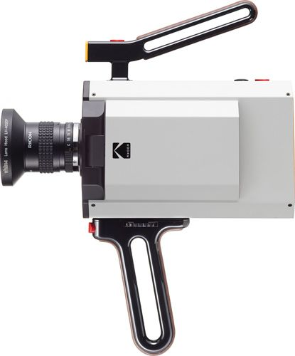 Above, Kodak Super 8 Cine camera with Ricoh lens, bone china color. Kodak Shows Functioning Prototypes of the Super 8 Cine Camera. http://www.photoxels.com/pr-kodak-super8-cine-camera/