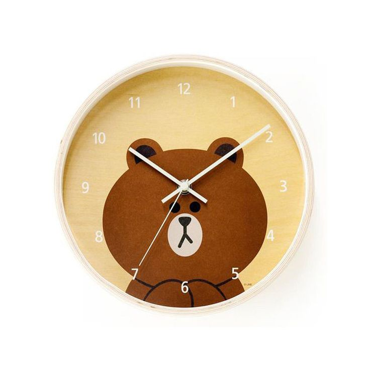 emart x LINE FRIENDS Collaboration Loving Home Official PLY Wooden Wall Clock