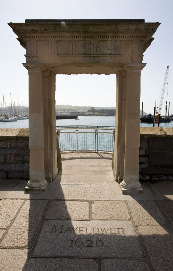 Mayflower Steps - Plymouth Barbican, from where the Pilgrim Fathers left for the New World