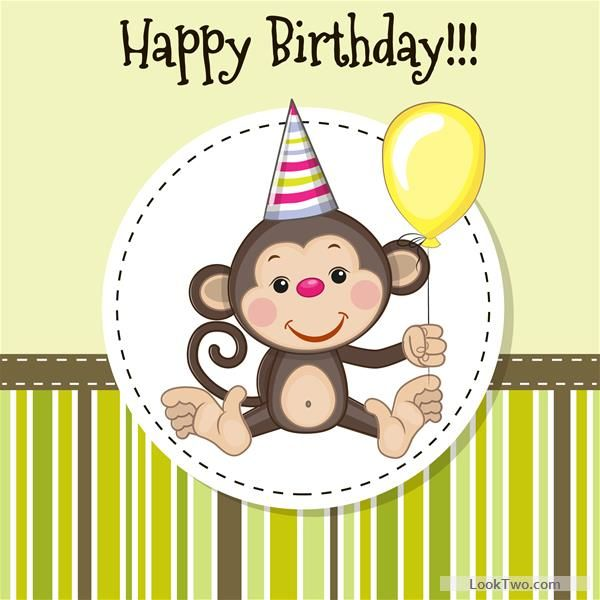 Free Happy birthday baby greeting cards vector 08  vector download
