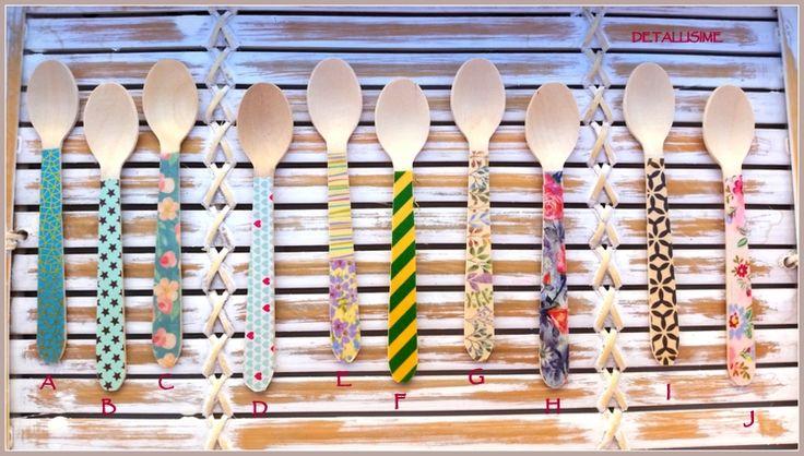 cucharitas de madera decoradas Pedidos y catálogo: detallisime@yahoo.es