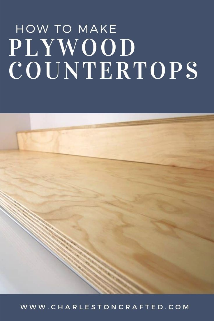 Easiest Diy Plywood Countertop Plywood Countertop Wood Table