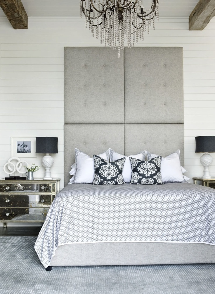 Decor, Lakes House, Side Tables, Beds, Headboards, Interiors Design, High Ceilings, Master Bedrooms, Bedrooms Ideas