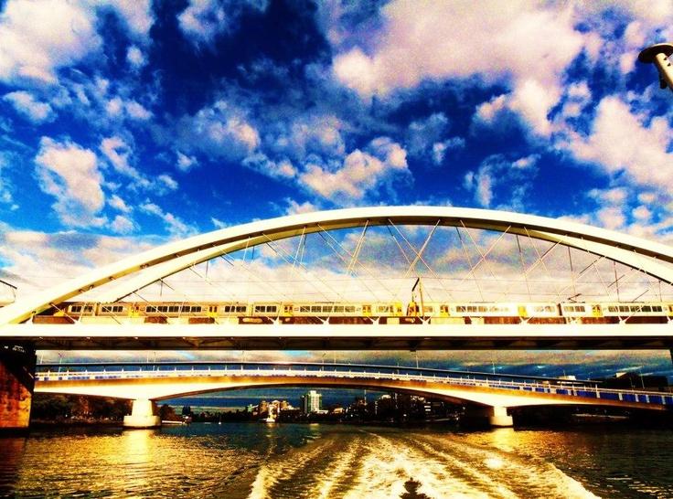 Cruising down the Brisbane River