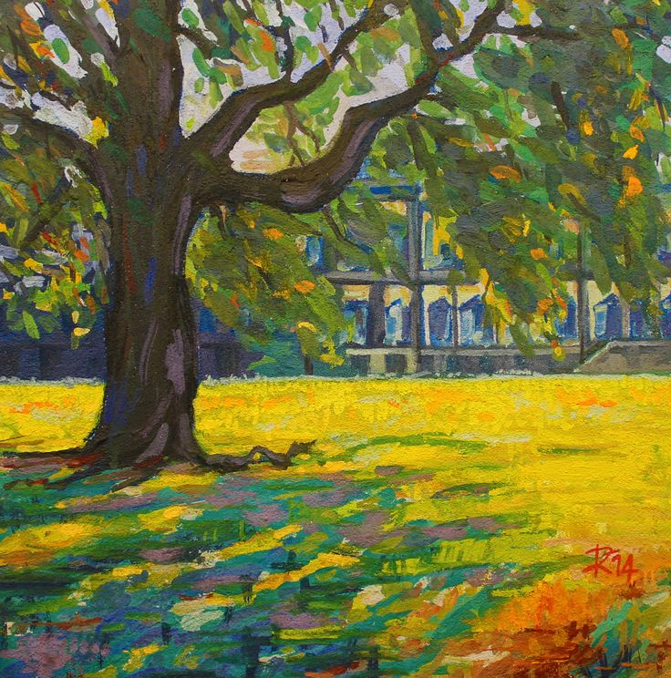 I giardini della Villa Reale di Monza - Affresco realizzato da www.robertozedda.it