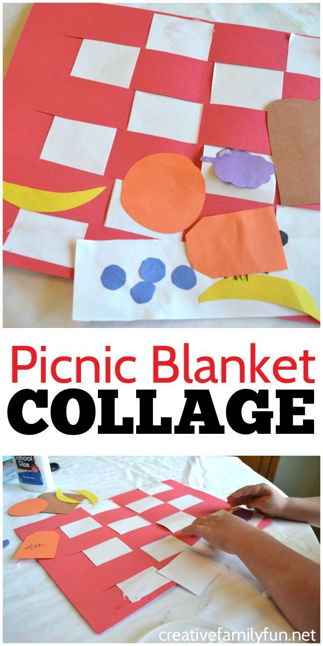 Picnic Blanket Collage Kids Craft Preschool Arts Crafts Picnic