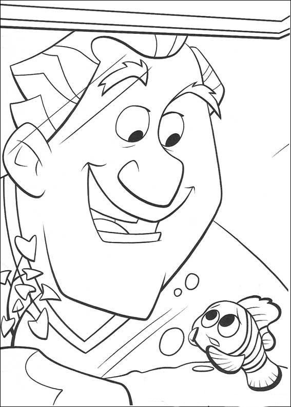 Most Of Us Watch The Cartoon Finding Nemo Marlin Clownfish Wife Left Alone With His Son After He Died Lets Do Coloring Page