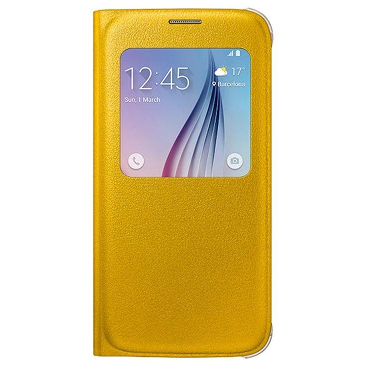 Samsung Galaxy S6 S-View Flip Veske EF-CG920PY - Gul