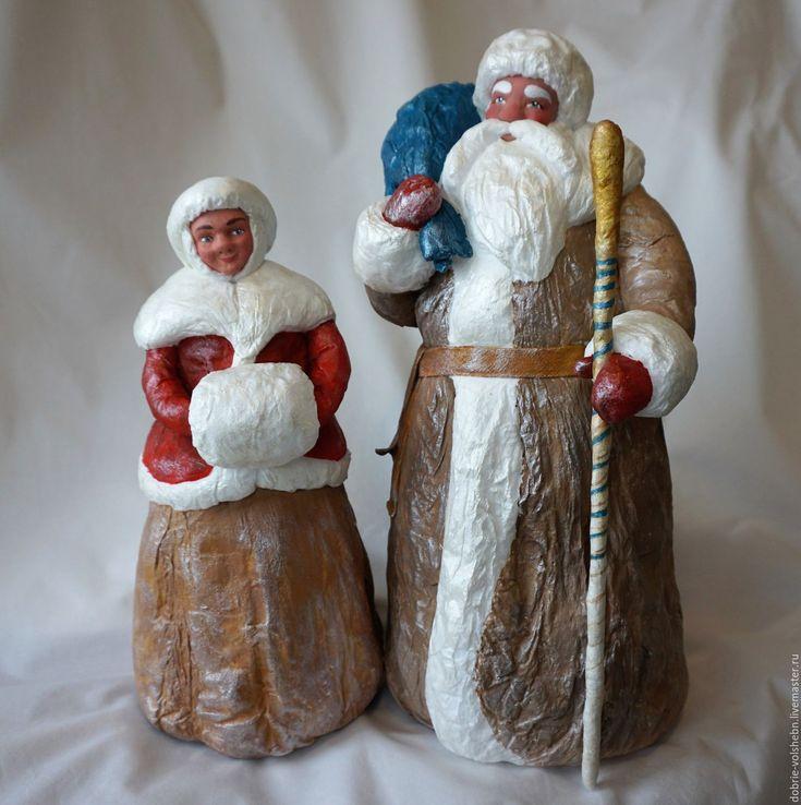 Дед Мороз и Снегурочка – купить или заказать в интернет-магазине на Ярмарке Мастеров | Предлагаю вашему вниманию новую пару кукол: Деда…