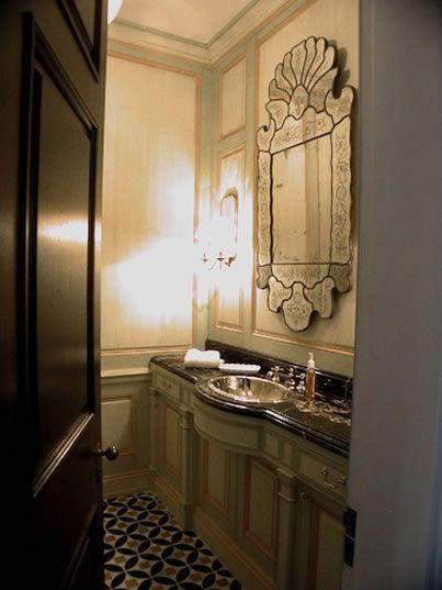 Powder room by designer James Howard.