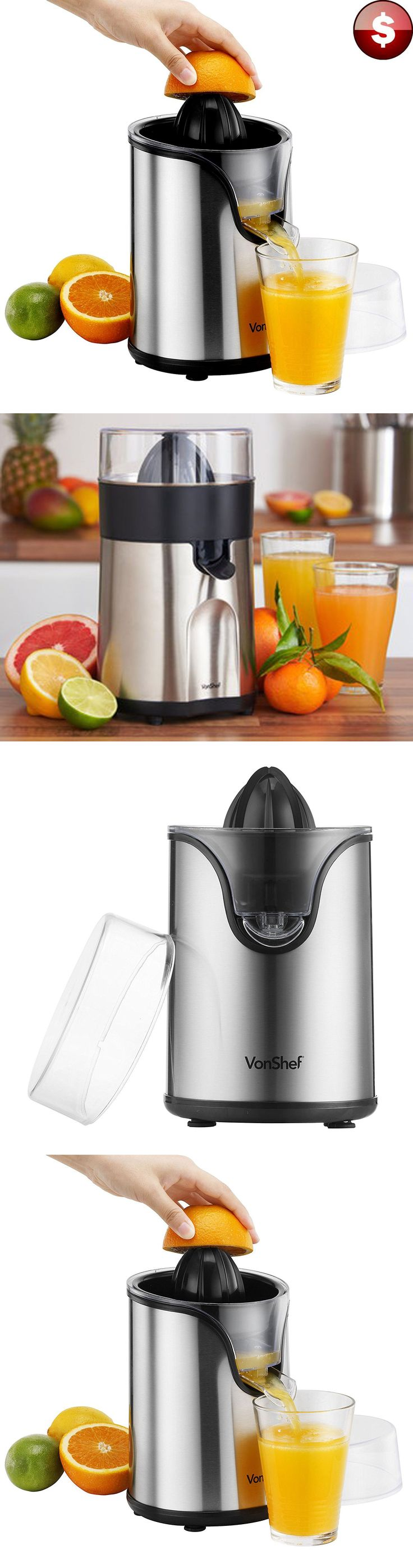 Small Kitchen Appliances: Electric Citrus Juicer Orange Fruit Lemon Squeezer Extractor Juice Press Machine BUY IT NOW ONLY: $37.31
