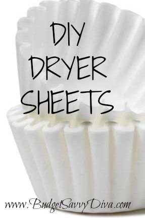 DIY Dryer Sheets | a lot of dryer sheets contain animal fat. It really doesn't get much easier than this! Per load, use one coffee filter and 1/2 or 1 teaspoon of liquid softener (depending on the size of the load) and rub the liquid softener into the filter and throw into your dryer. Save money? Check. Easy? Check. WORKS? Double Check!! Enjoy!!