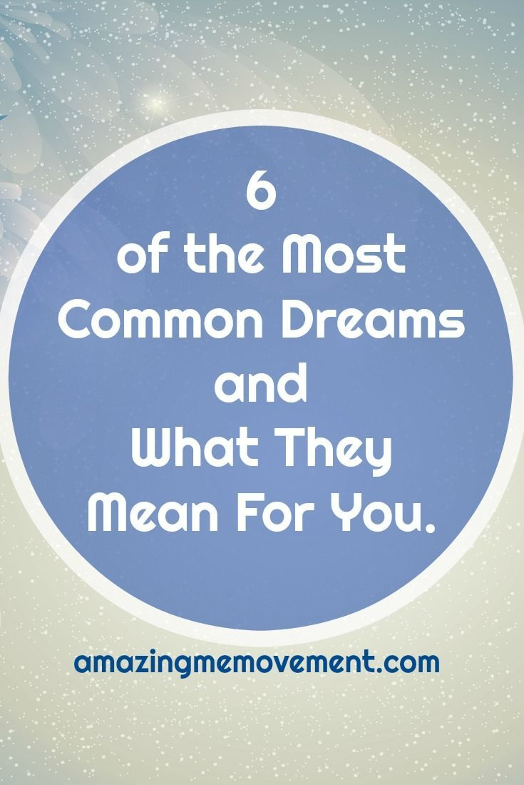 #dream #dreaminterpretations #commondreams #teethfallingout Do you have any of these 6 common dreams? Do you know what they mean? Find out now.  via @Iva Ursano|Amazing Me Movement