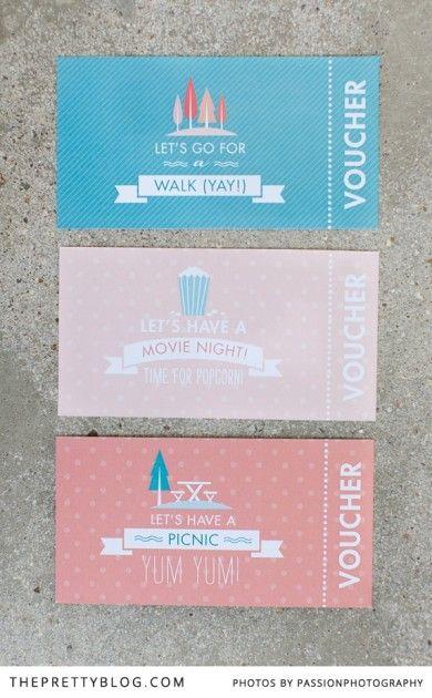 Summer Activity Vouchers   Printables   The Pretty Blog
